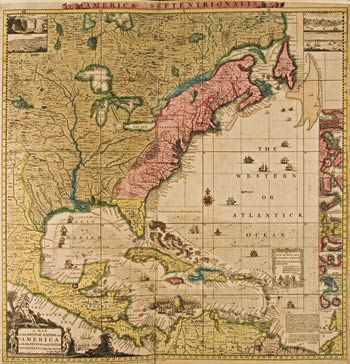 Henry Popple A Map Of The British Empire In America With