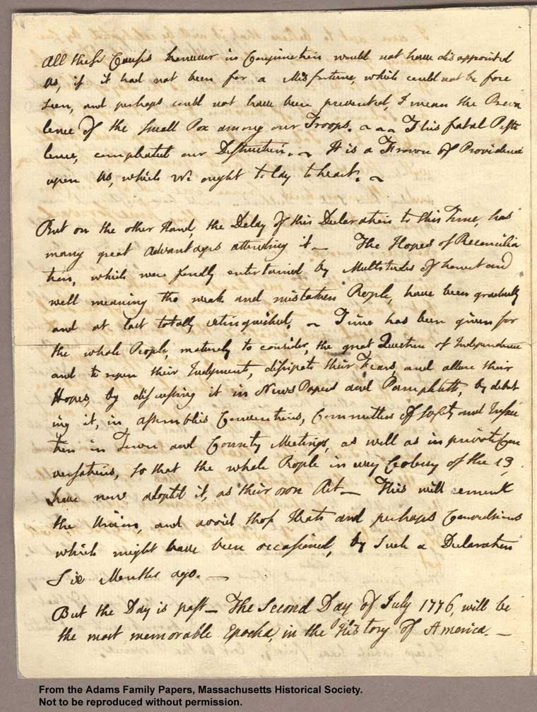 "critical essays on abigail adams letters Maddie us honors search this site abigail adams essay: in these letters, abigail denigrated herself saying that ""[she."
