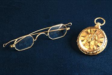 Matthew Vassar's Glasses and Watch