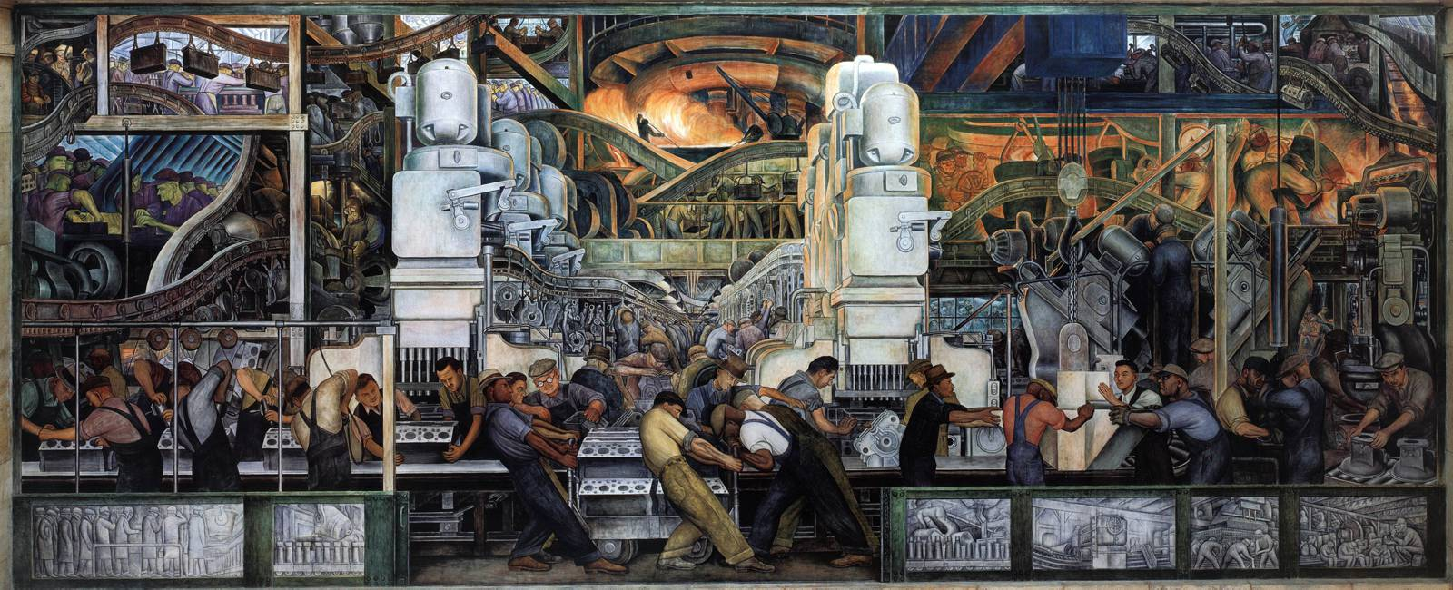 Detroit diego rivera s detroit industry a communist s for Diego rivera detroit mural