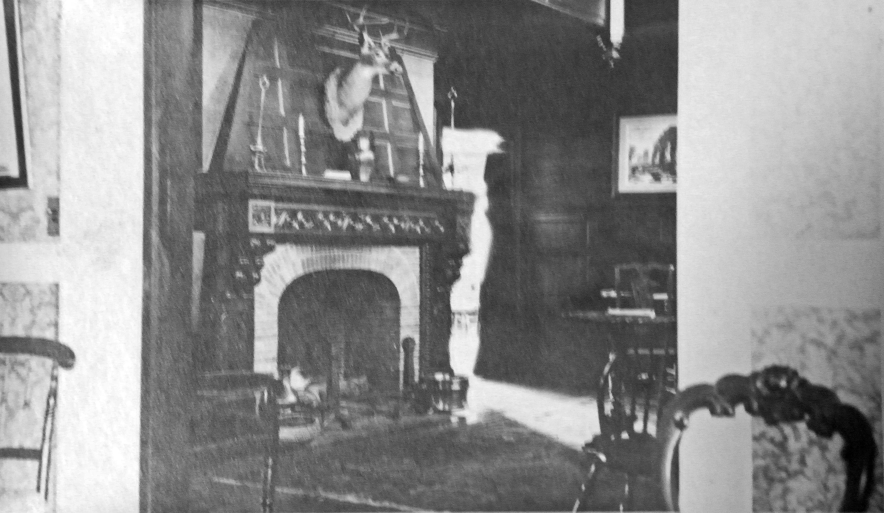 President Sarah Gibson Blanding removed the elaborate central fireplace and its accoutrements in 1946.