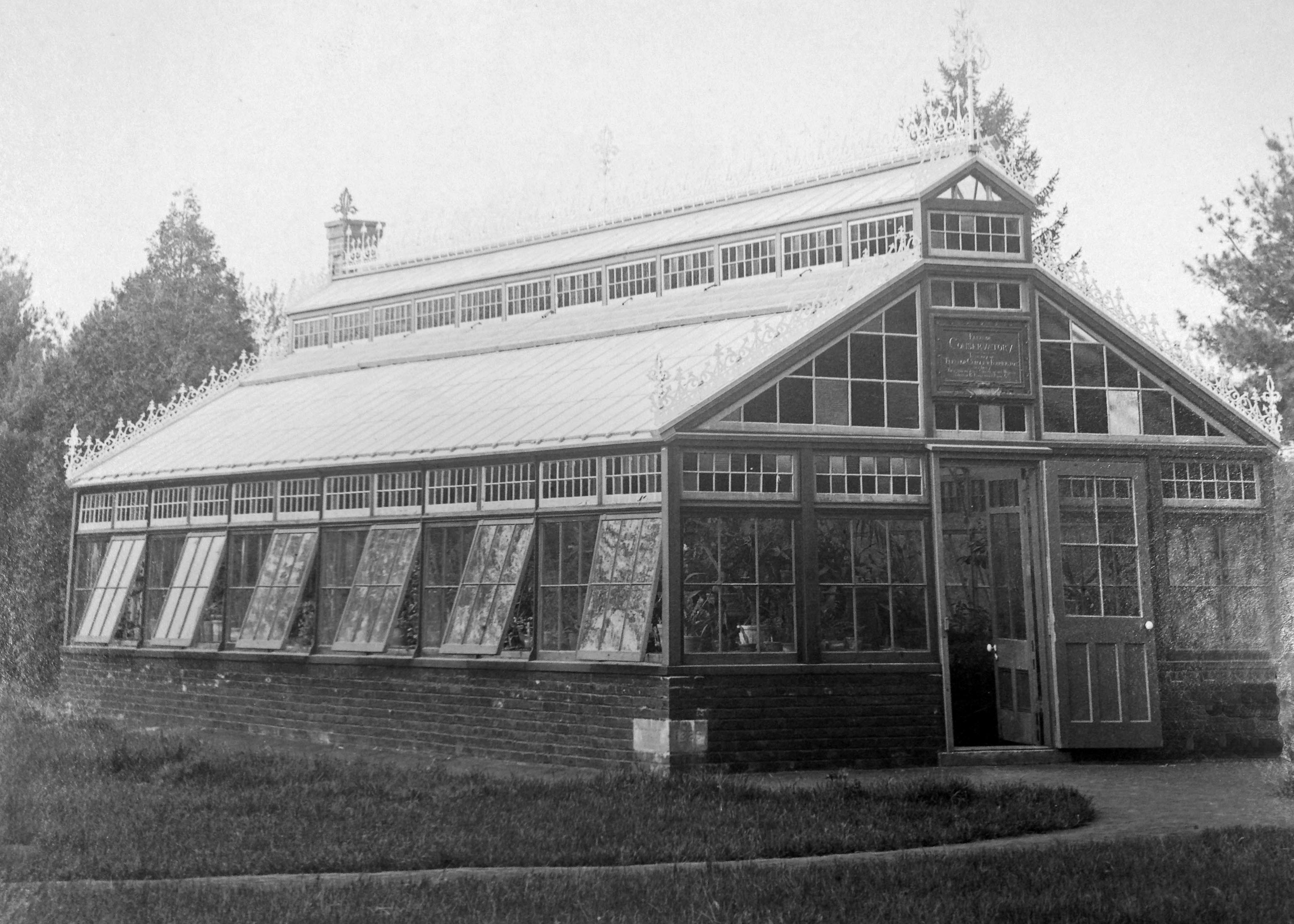 The Eleanor Conservatory was completed in October of 1886.