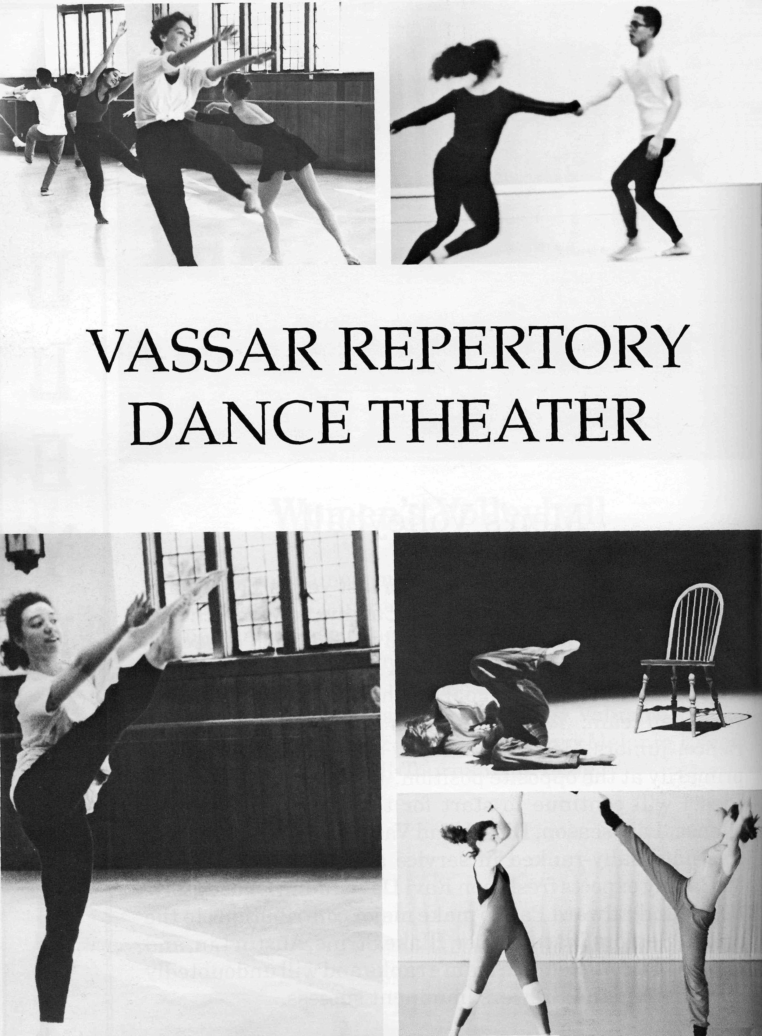 By 1993, the Vassar Repertory Dance Theatre was part of Vassar's curriculum
