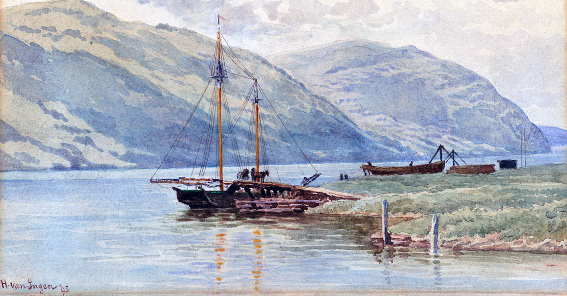 A Hudson River scene by Van Ingen, painted in 1893