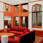 Interior lounge rendering