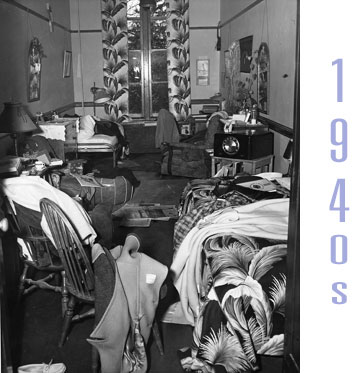 A Vassar Dorm Room From The 1940s, Messy, With Various Items Scattered About Part 22