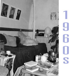 A Vassar Dorm Room From The 1950s. A Girl Sits On A Couch, Talking Part 40