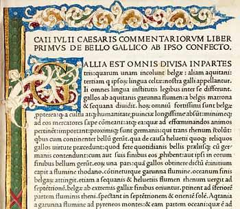Julius Caesar Works, printer Nicolas Jenson, 1471