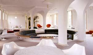 The conversation pit in Eero Saarinen's Noyes House