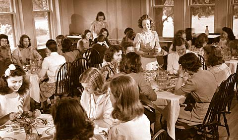 Strong dining room before coeducation