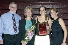 Senior Female Athlete of the Year Kaitilin Harvie (field hockey/ lacrosse)