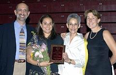 Coaches� Award winner Emily Learner �05 (field hockey/ lacrosse)