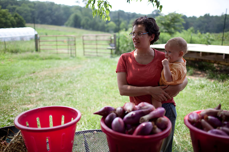 """Mandelbaum Elliot, whose family emigrated from the former Soviet Union in 1989, says her parents had to be convinced that farming was part of the American Dream—it reminded them too much of the """"collective farms"""" back home."""