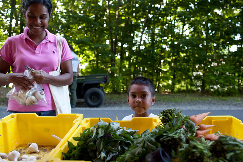 Twice a week, Latzer sells her produce at the Poughkeepsie Farmer's Market located on the Walkway over the Hudson, a state park.