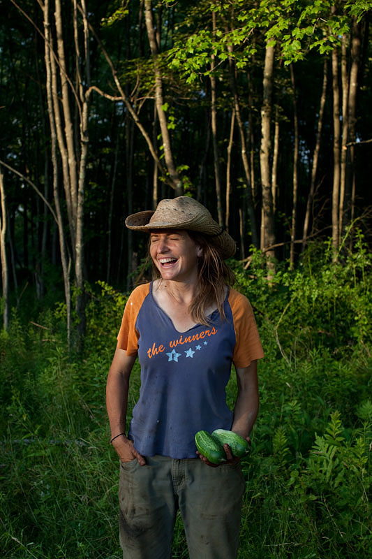 """Owning her own land has given Latzer a sense of dedication to farming. """"I've made a deep commitment to spend the rest of my life trying to eke a living off the land,"""" she proclaims."""