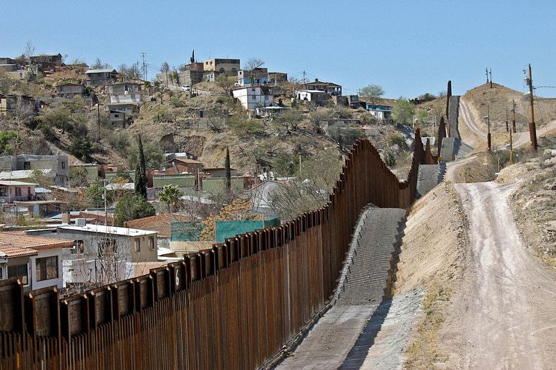 The wall between Nogales, Mexico, and Nogales, Arizona