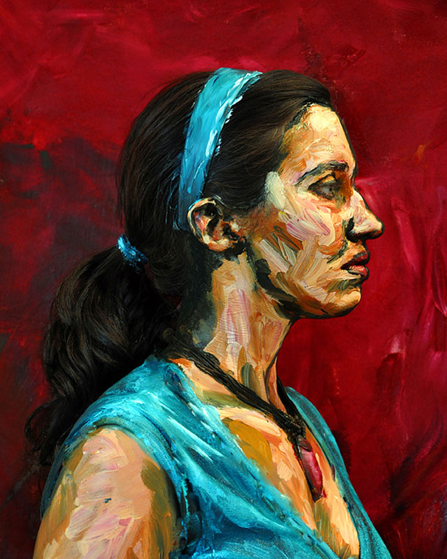 """Is it a painting or is it a person? With the art of Alexa Meade, it's both. """"Jaimie."""""""