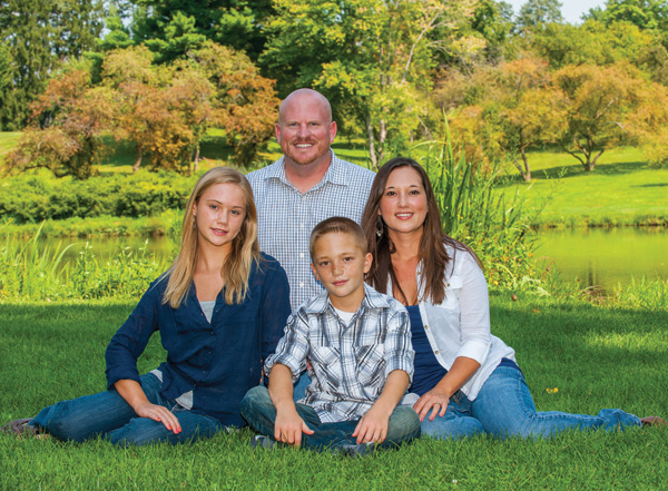 David Carrell, his wife, Tori, and their children David and Lexus.