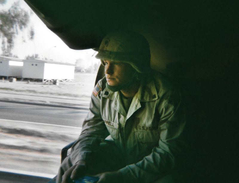 David Carrell '16 during a tour in Iraq.