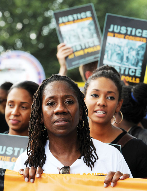 Sherrilyn Ifill '84 at a protest rally in DC.