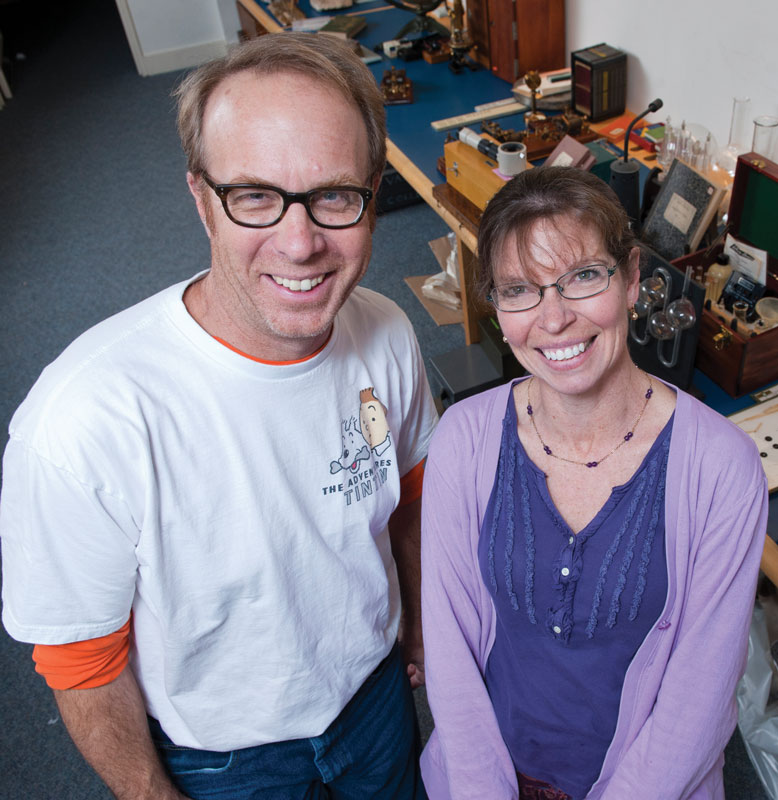 Richard Jones, collections manager for Vassar's natural history museum, and biology professor Kate Susman have spearheaded the VCAP project.