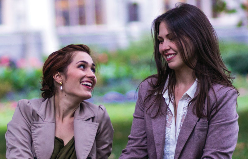 Danielle Morvant '10 and Ellen Geissal '11