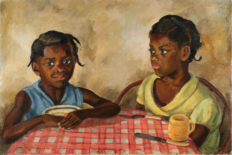 Ruth and Pauline Moaney at Breakfast, 1932